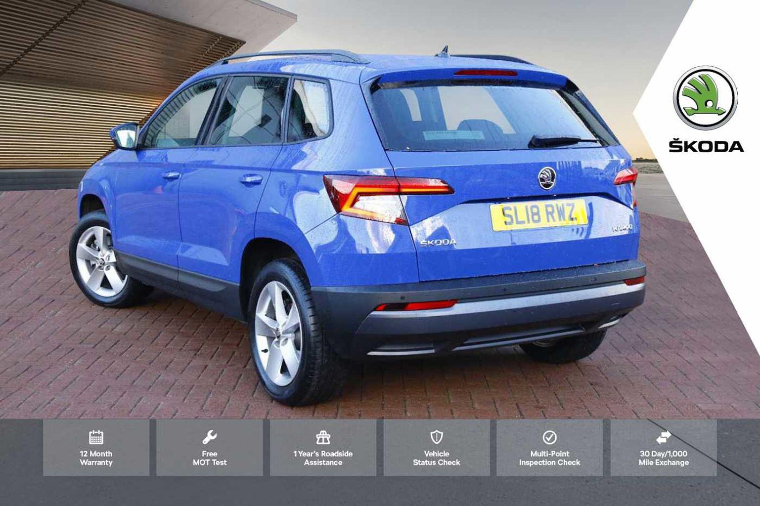 Find A Used Blue ŠKODA Karoq SUV 1.0 TSI (115ps) SE in ...